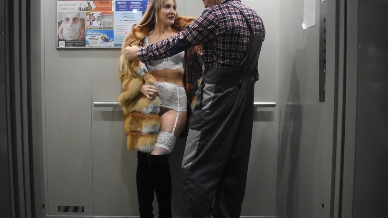 Жесткое Порно В Лифте